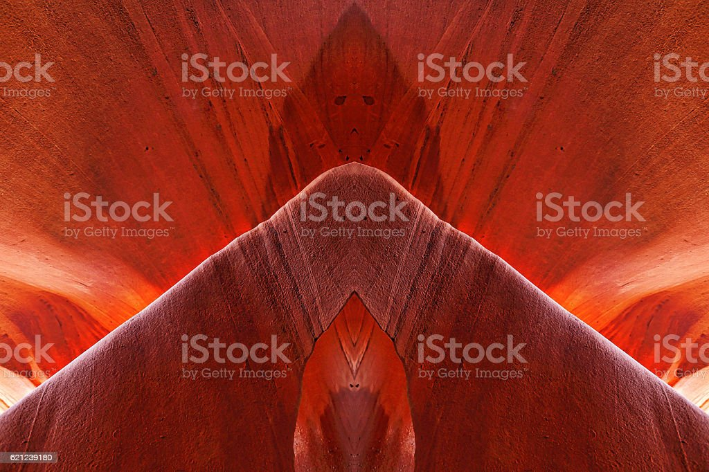 Multiple Exposure of a Slot Canyon Wall Stone Background stock photo