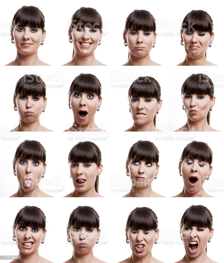 Multiple expressions stock photo