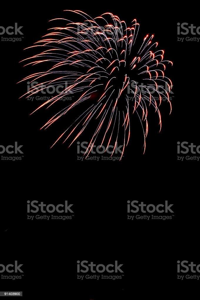 Multiple Fireworks bursts on a night sky. royalty-free stock photo