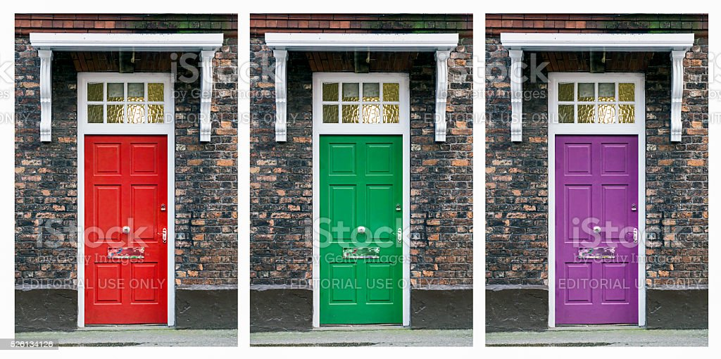 Multiple Front Doors Collage stock photo