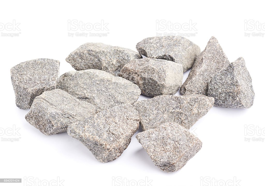 Multiple granite stones composition isolated stock photo