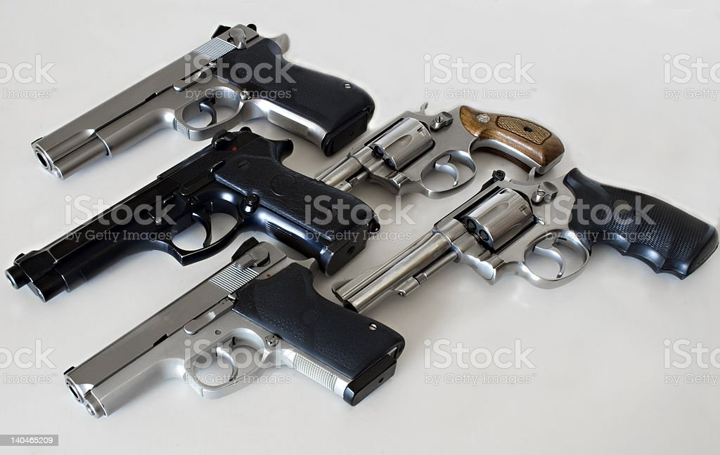 Multiple Guns stock photo