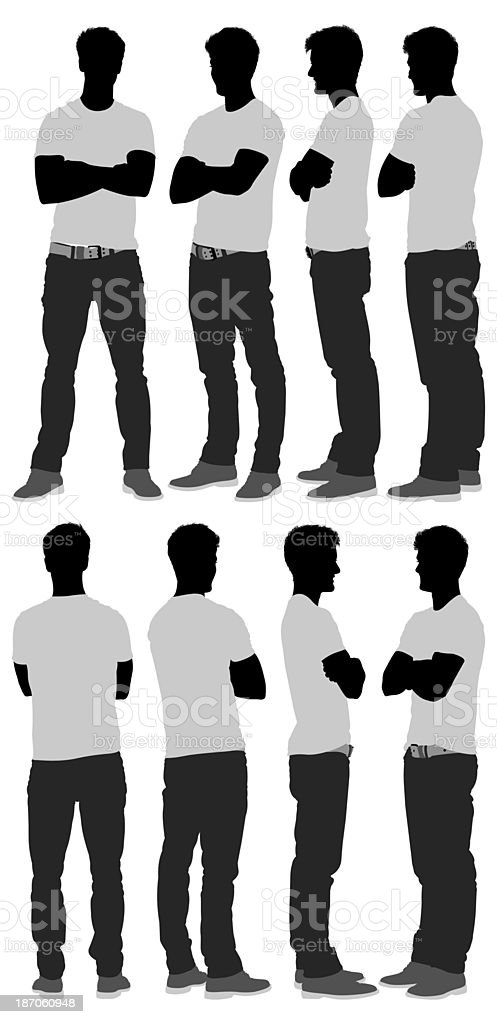 Multiple images of man standing royalty-free stock photo