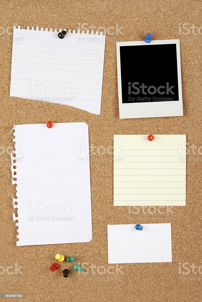 Multiple Items on Message Board royalty-free stock photo