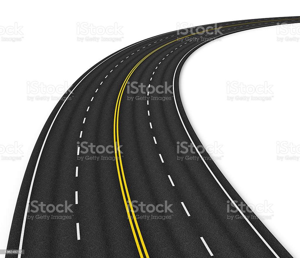 Multiple lane autobahn royalty-free stock photo