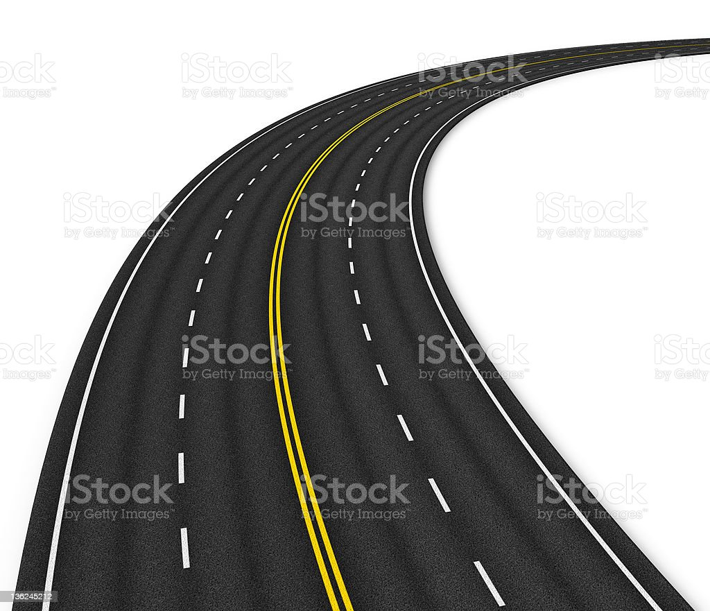 Multiple lane autobahn stock photo