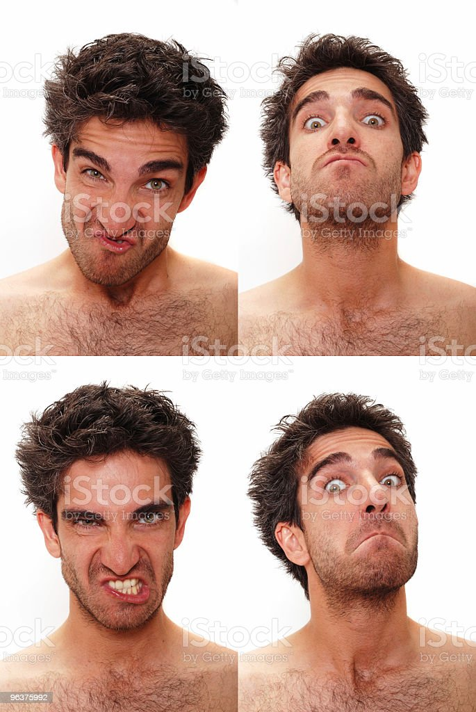 Multiple male expressions royalty-free stock photo
