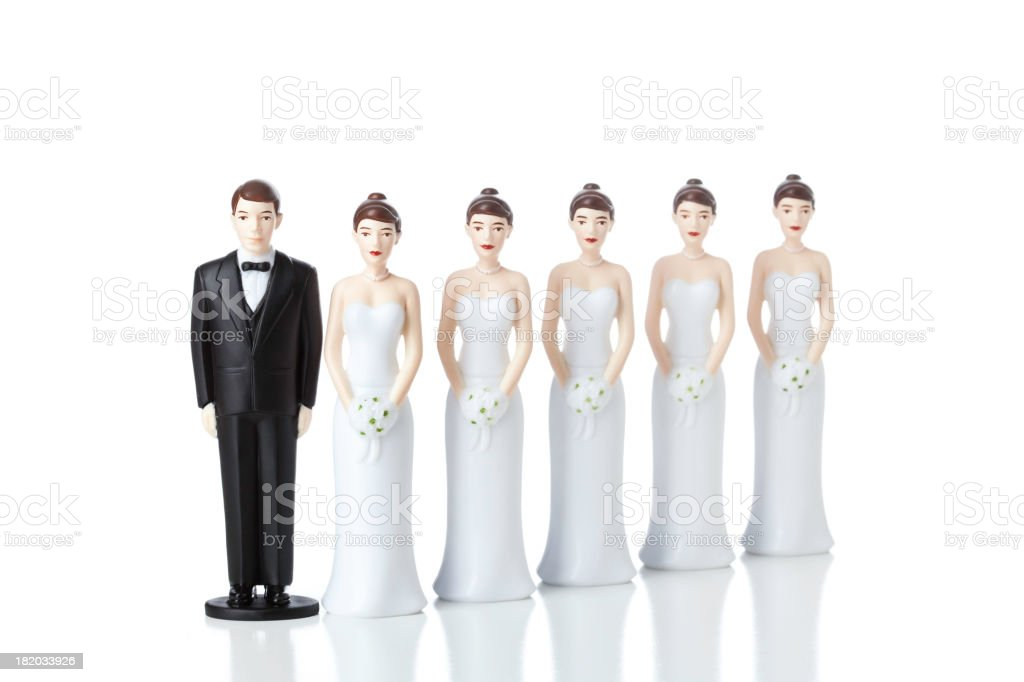 Multiple Marriages Wives stock photo