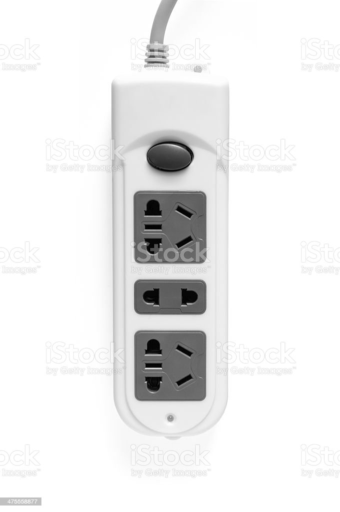 Multiple outlet isolated stock photo