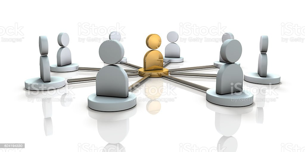 Multiple partners will cooperate with the leader. stock photo