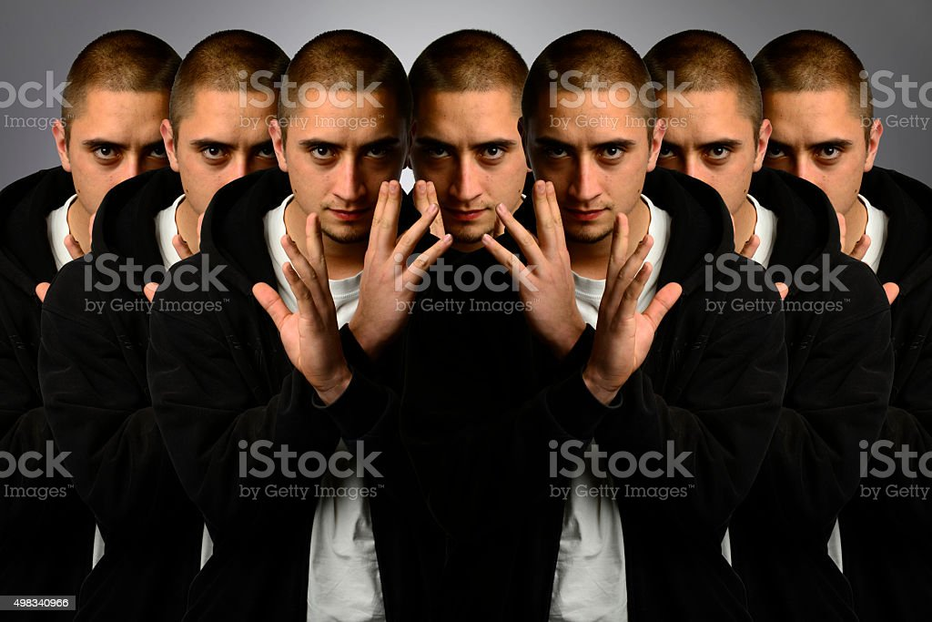 Multiple personality stock photo