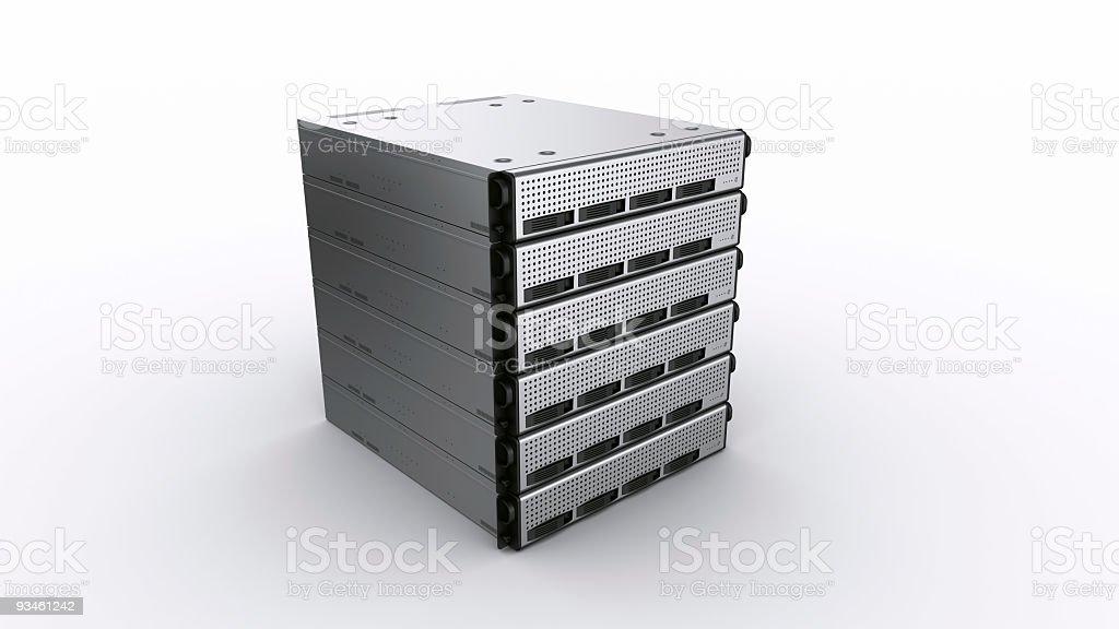 multiple Rack servers royalty-free stock photo