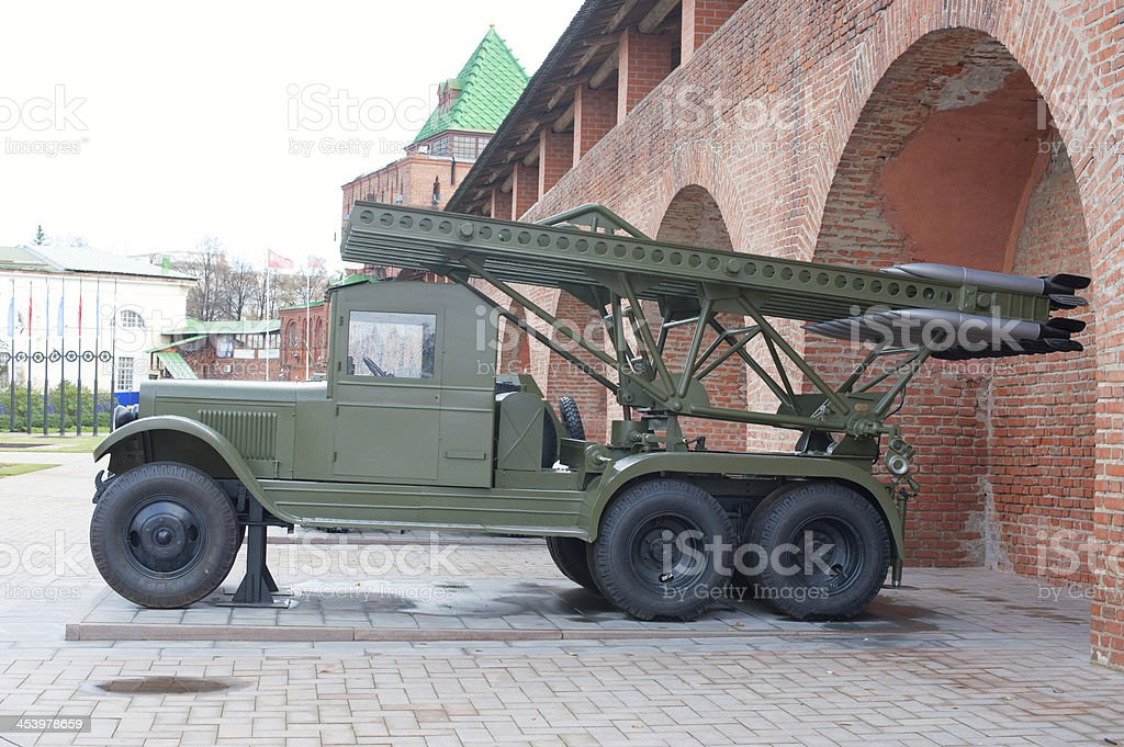 multiple rocket launcher Katyusha stock photo