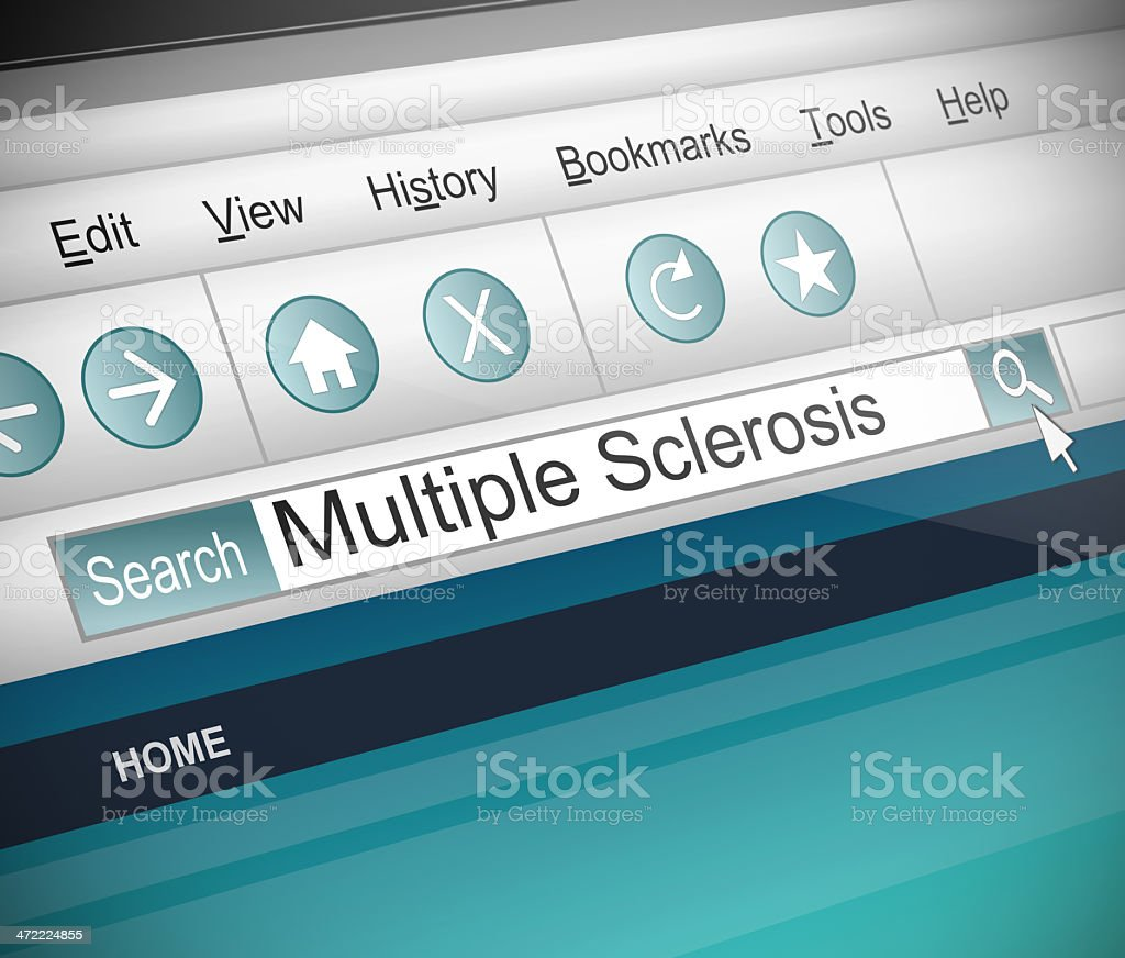 Multiple Sclerosis concept. stock photo