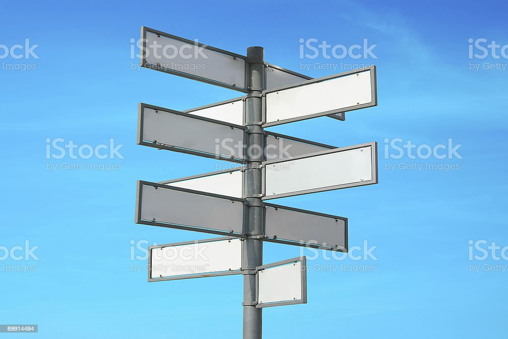 Multiple signpost royalty-free stock photo