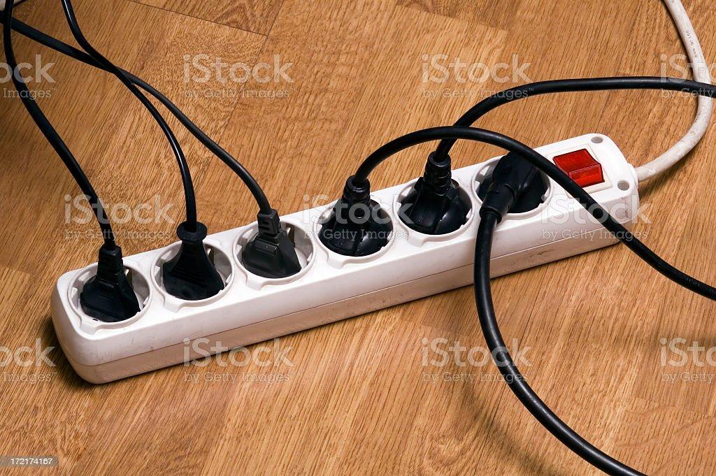Multiple Socket Outlet stock photo