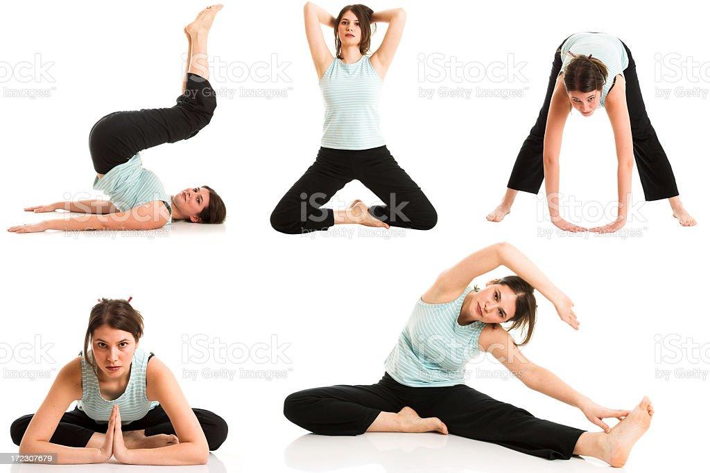 Multiple Yoga Series royalty-free stock photo