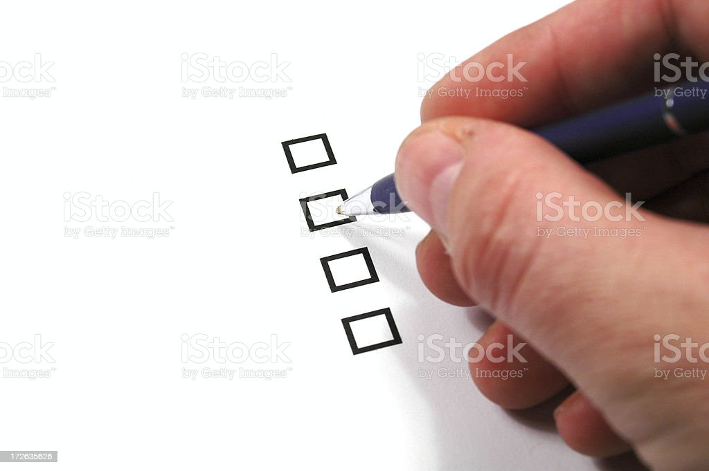 Multiple-choice royalty-free stock photo