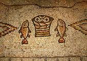 Multiplication mosaic, Tabgha, Israel