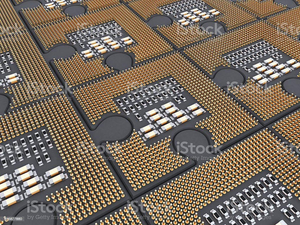 Multiprocessor system stock photo