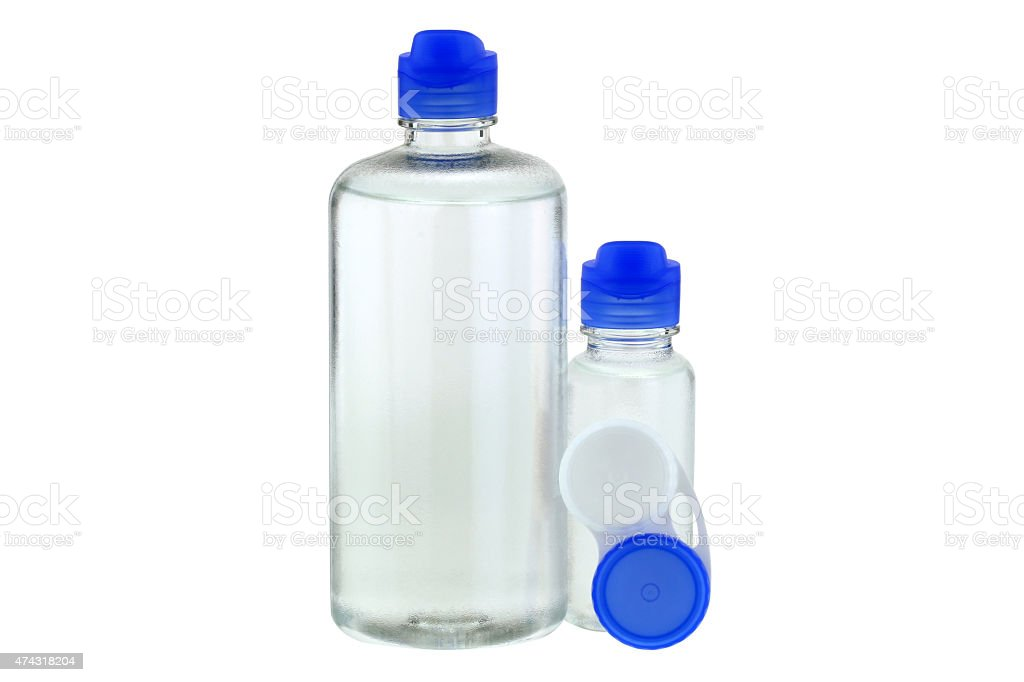 Multi-Purpose Contact Lens Solution stock photo