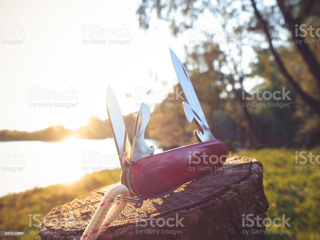Multipurpose knife stock photo
