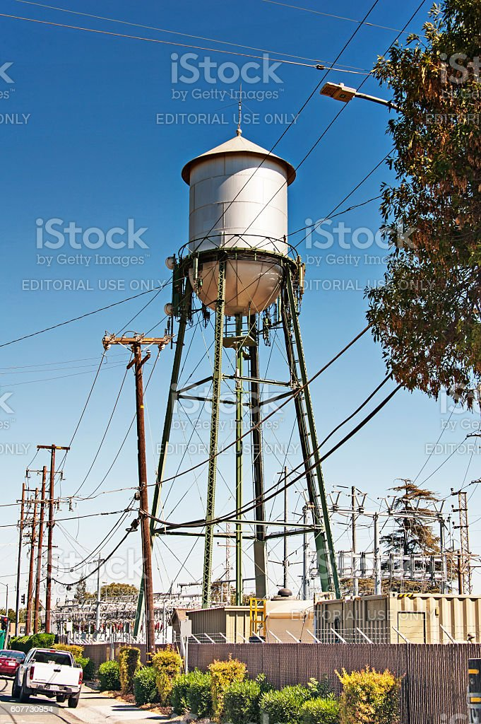 Multi-Purpose Storage Tower in Dixon stock photo