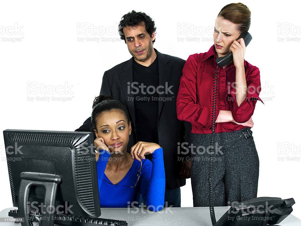 Multiracial Buisiness Co-Workers are Upset Over a Failure royalty-free stock photo