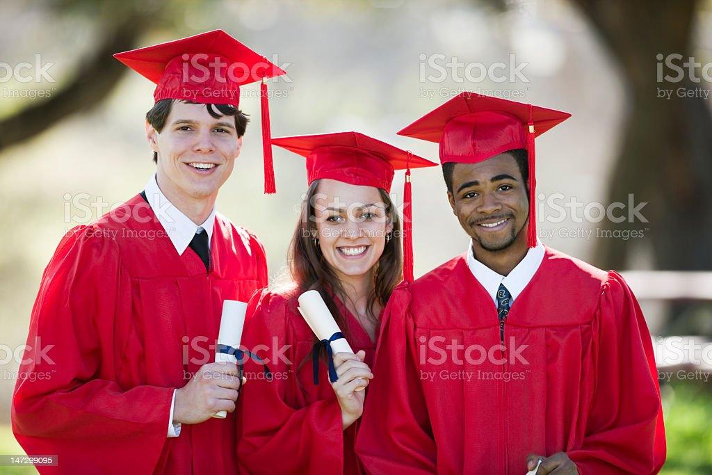 Multi-Racial Classmates On Graduation Day royalty-free stock photo