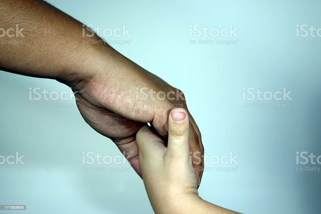 Multi-Racial Family Hands royalty-free stock photo