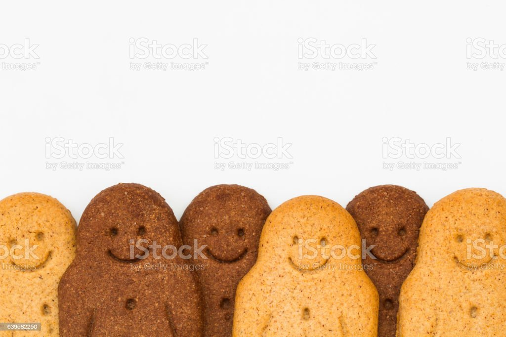 Multiracial Gingerbread Men stock photo