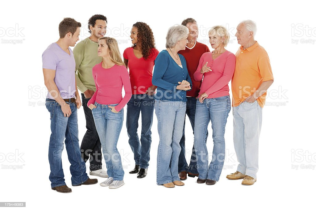 Multiracial Group In Casual Wear royalty-free stock photo
