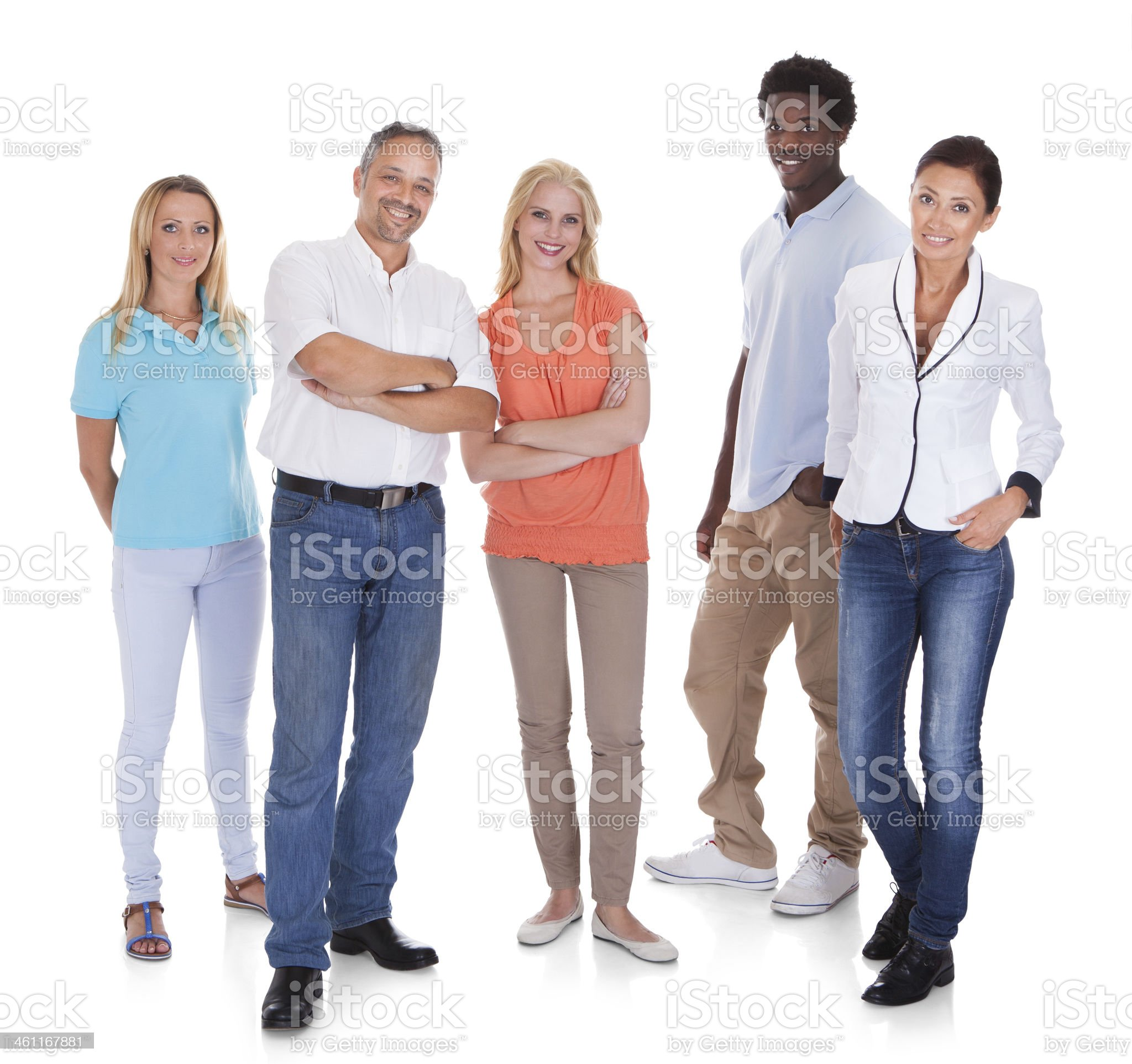 Multi-racial Group Of People royalty-free stock photo