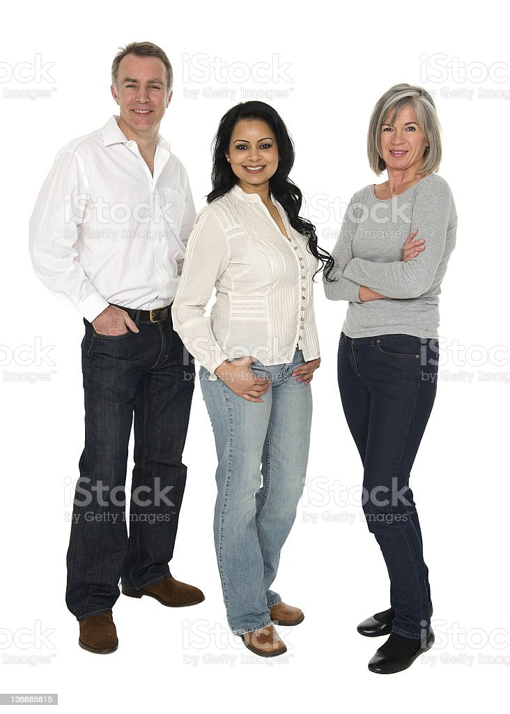 Multi-racial group on people stock photo