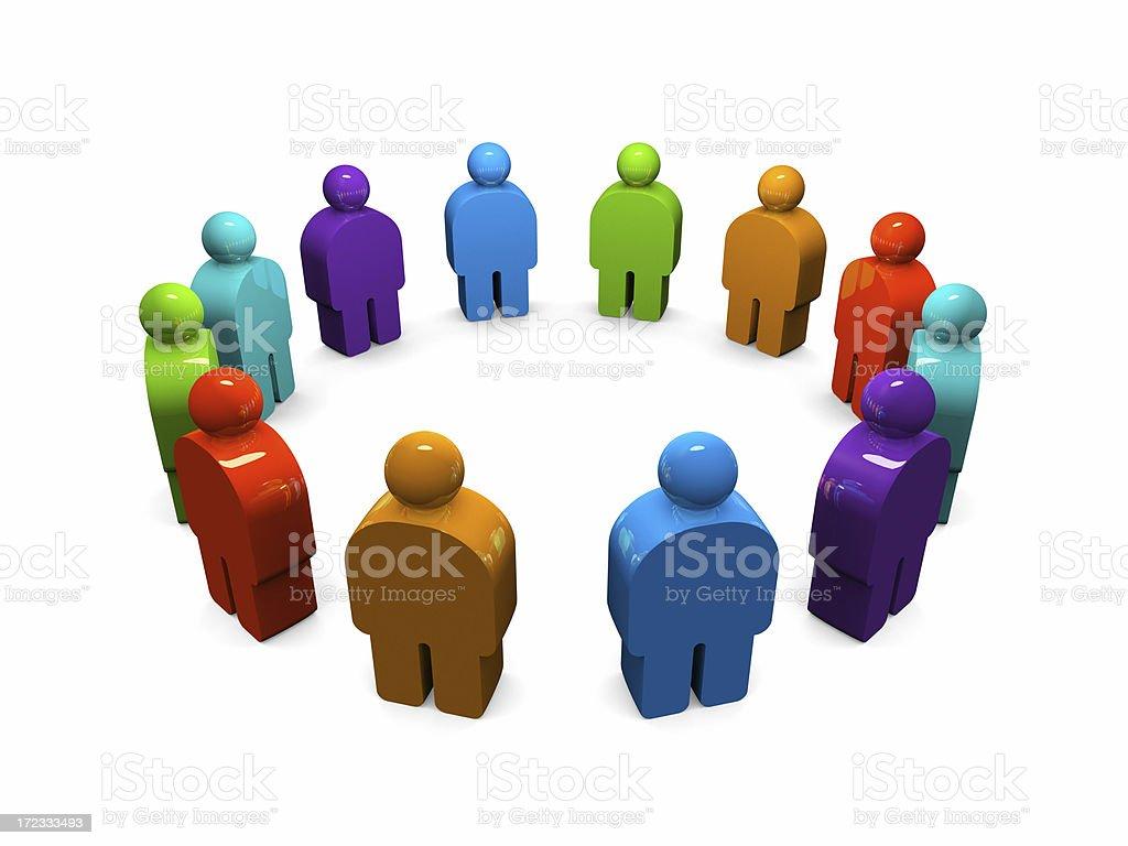 Multi-racial group royalty-free stock photo