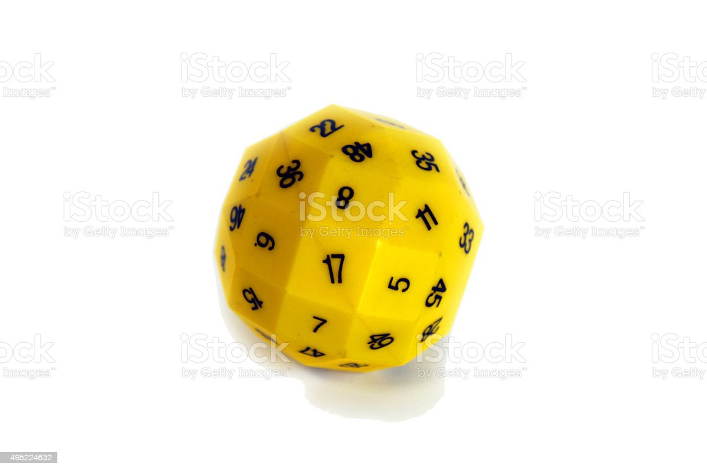 Multisided die stock photo