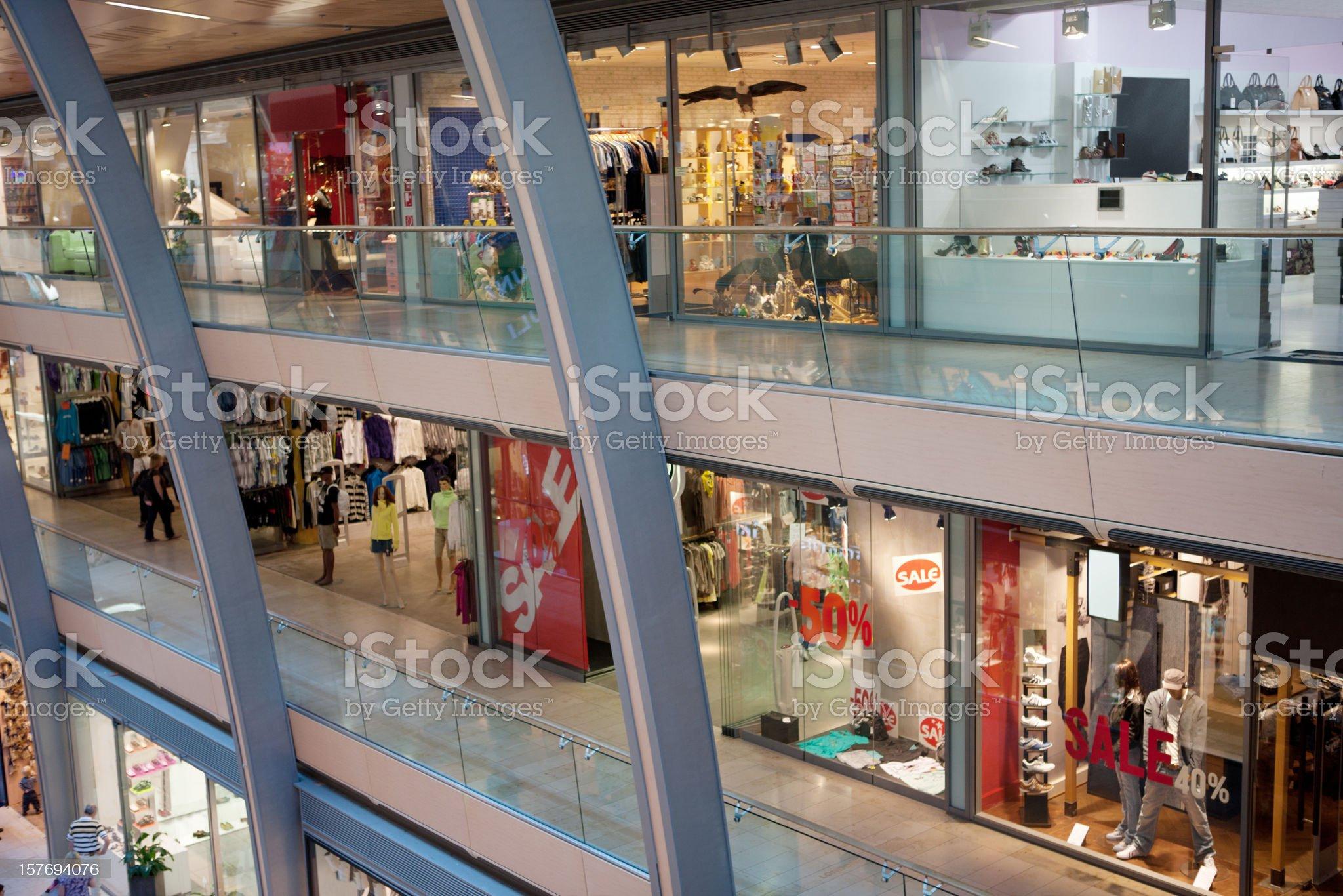 Multistorey shopping center royalty-free stock photo