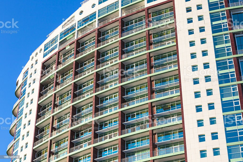 Multistory apartments house royalty-free stock photo