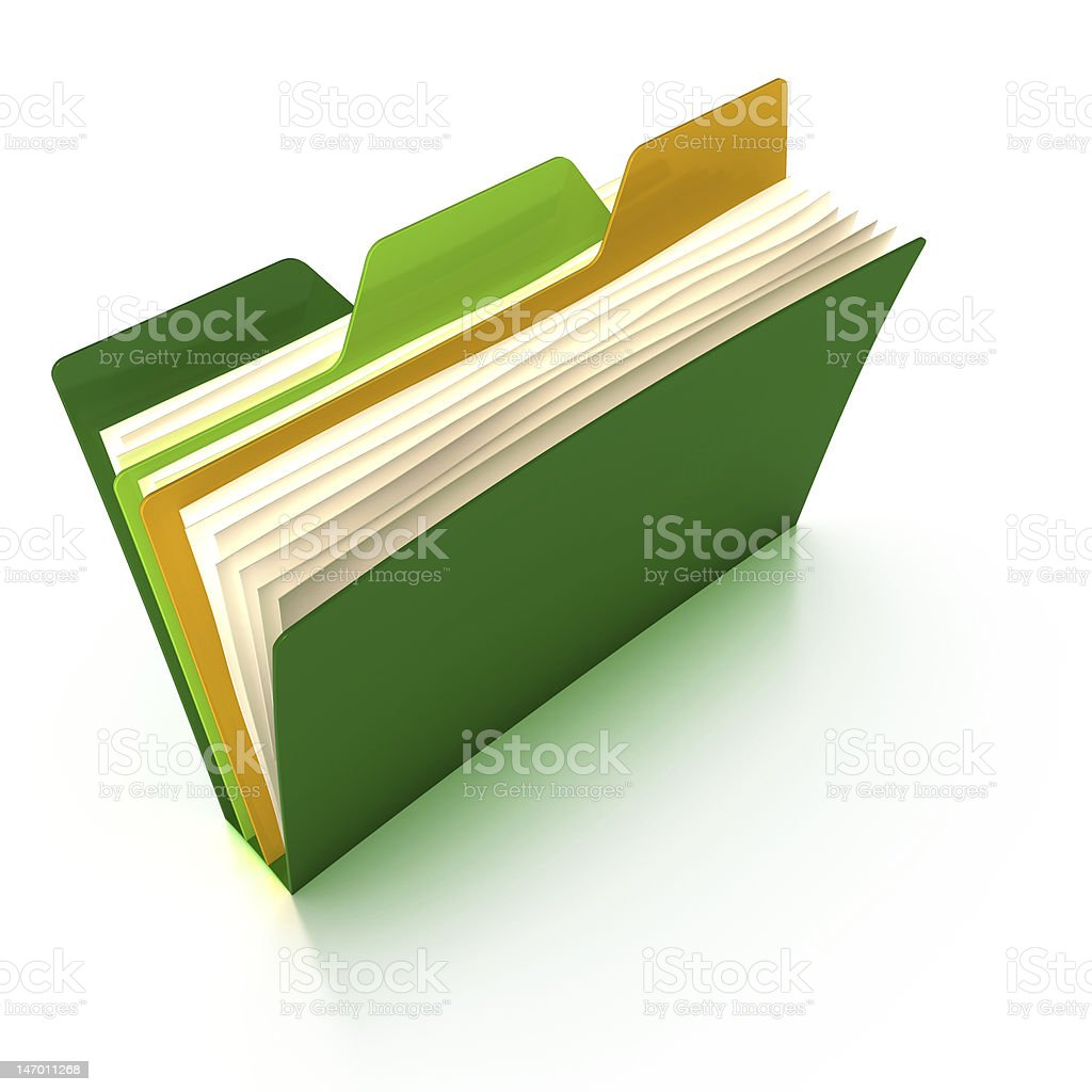 Multi-tab folder (with a clipping path) stock photo