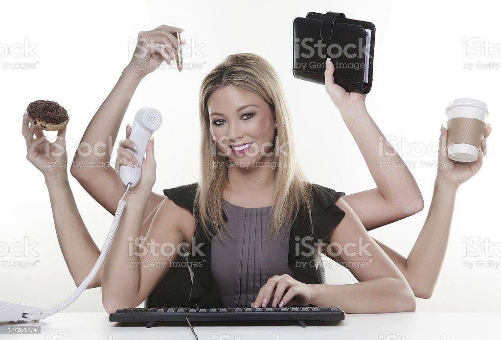 multitask stock photo