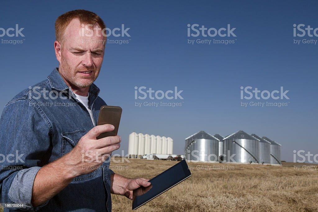 Multitasking at a Farm stock photo