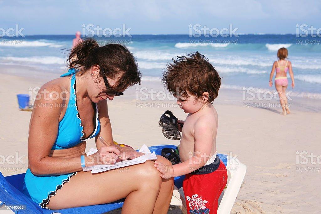 Multi-Tasking Mom royalty-free stock photo
