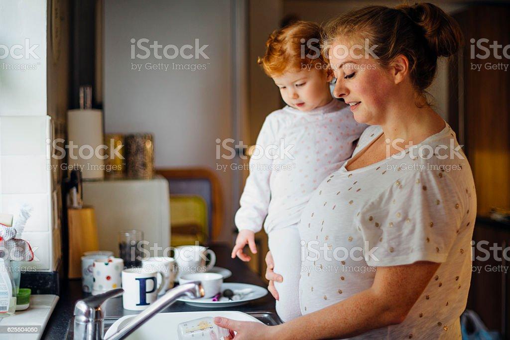 Multi-Tasking Mother stock photo