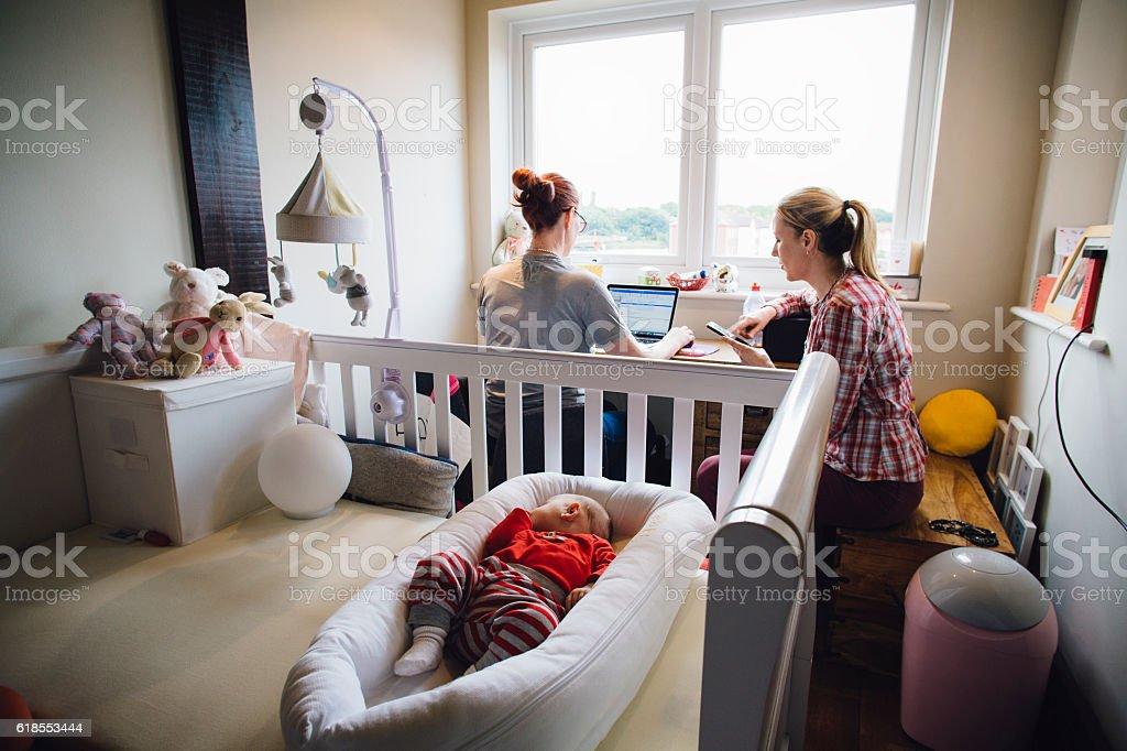 Multitasking Mothers stock photo
