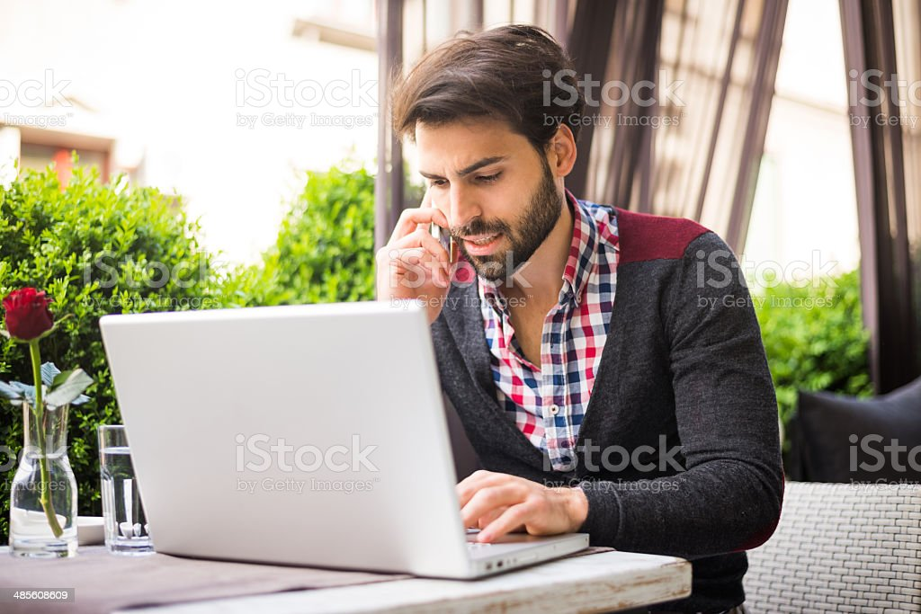 Multitasking royalty-free stock photo
