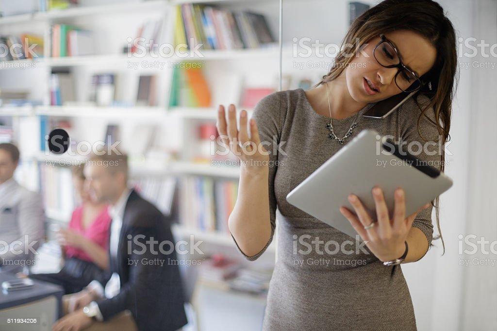 Multitasking stock photo