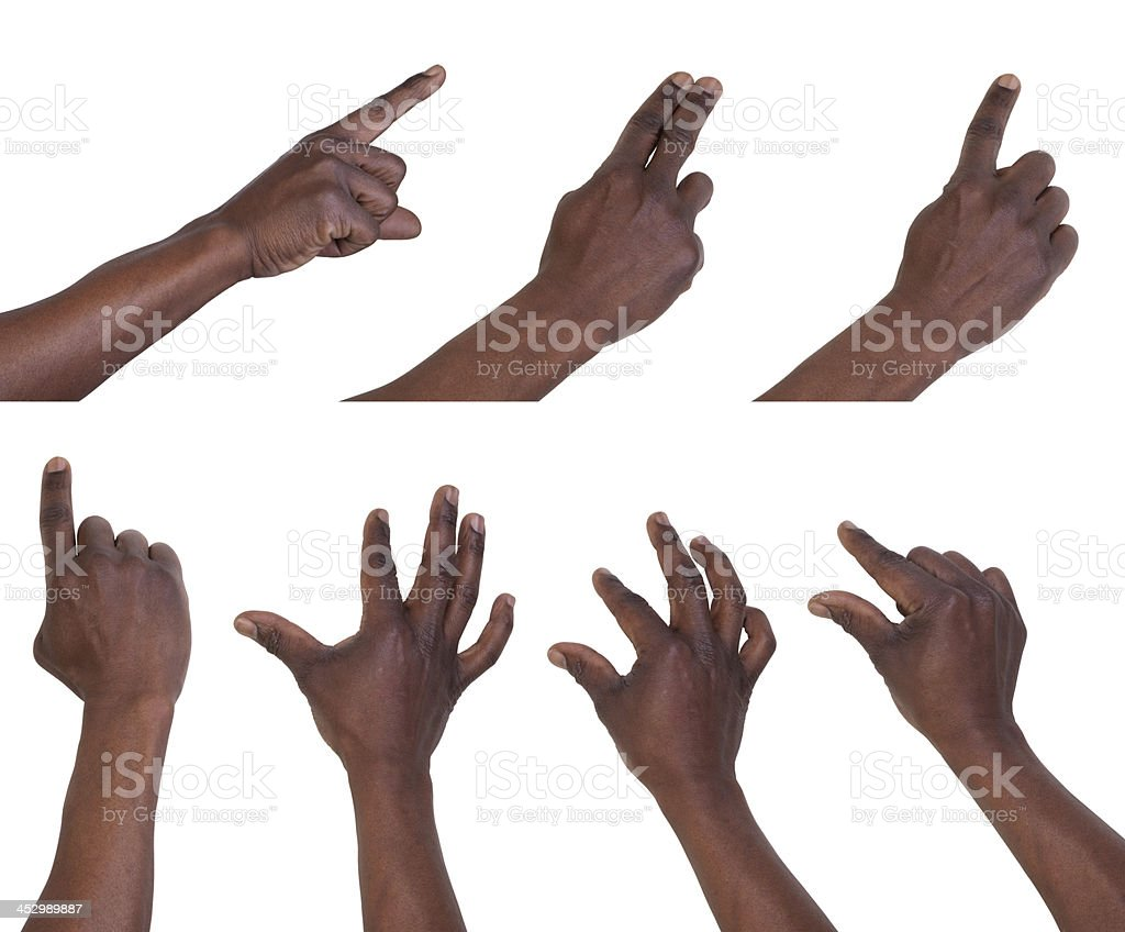 Multi-touch gestures stock photo