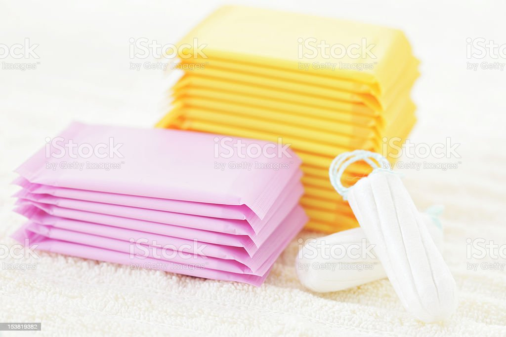 Multitude of feminine products royalty-free stock photo
