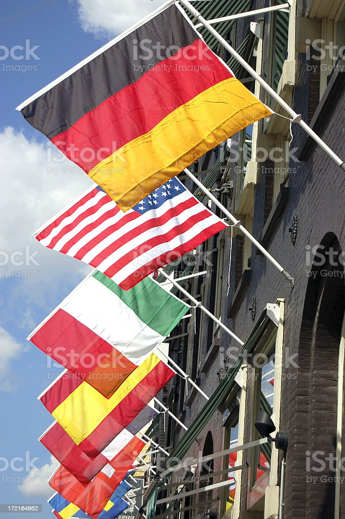 Multitude of Flags royalty-free stock photo
