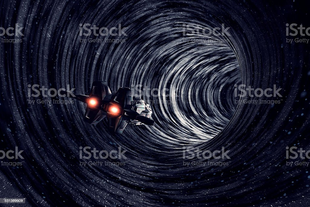 Multiverse travel, time, black hole, universe, dimension stock photo